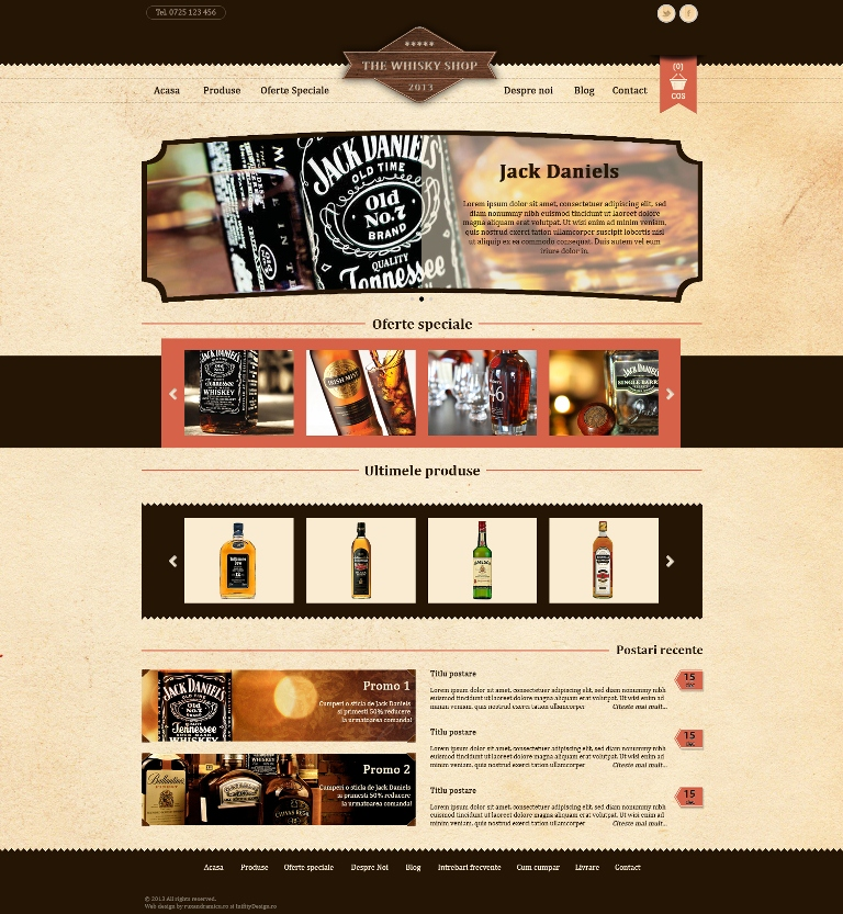 The Whisky Shop_propunere web design