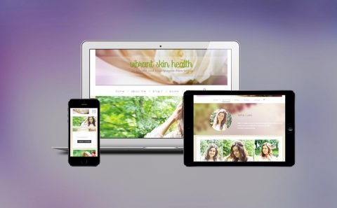 Website design for feminine health blog vibrantskinhealth