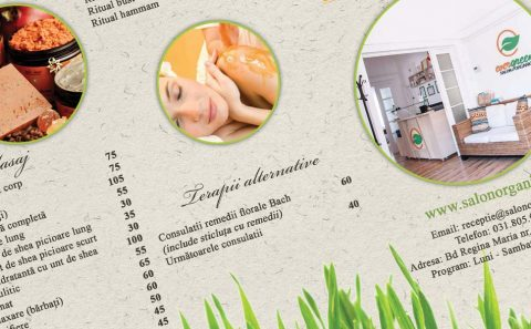 organic salon brochure design 3